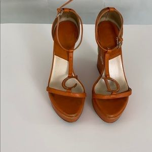 Iconic Christian Dior Orange Platform Sandals 37 7